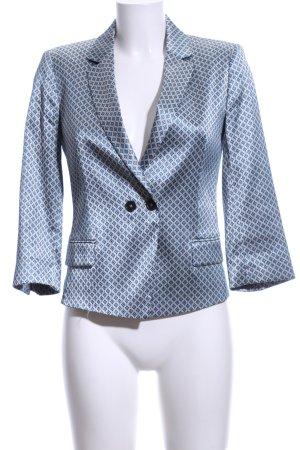 SET Urban Deluxe Kurz-Blazer blau-silberfarben Allover-Druck Business-Look
