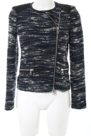 SET Urban Deluxe Kurzjacke schwarz-weiß meliert Casual-Look