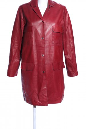 SET Urban Deluxe Lederjacke rot Casual-Look