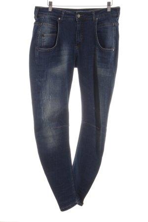 SET Urban Deluxe Slim Jeans blau Street-Fashion-Look