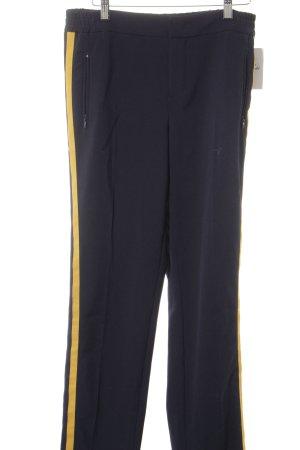 SET Urban Deluxe Stoffhose dunkelblau-goldorange Street-Fashion-Look