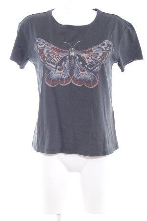 SET Urban Deluxe T-Shirt anthrazit Motivdruck Casual-Look