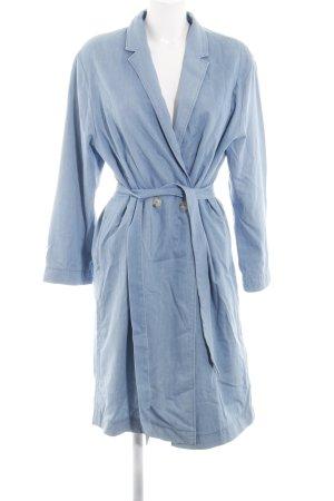 SET Urban Deluxe Trenchcoat blau meliert Casual-Look