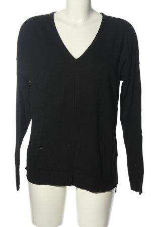 Set V-Ausschnitt-Pullover schwarz Casual-Look