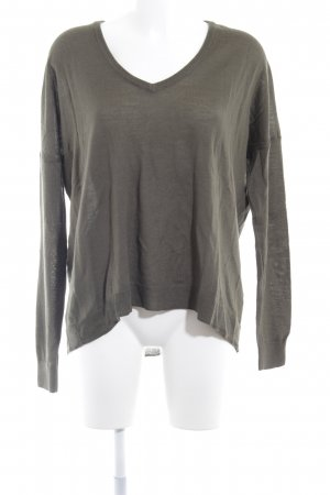 Set V-Ausschnitt-Pullover khaki Casual-Look