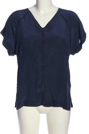 Set V-Ausschnitt-Shirt blau Casual-Look