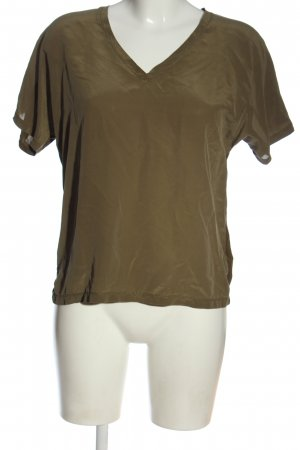 Set Koszulka z dekoltem w kształcie litery V brązowy W stylu casual