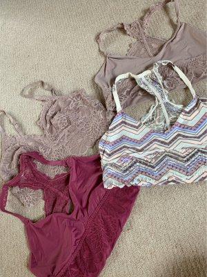 Set von 4 Tops Bralette PINK Victoria Secret