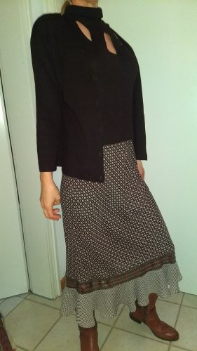 Appart Twin Set punto color plata-marrón-negro tejido mezclado