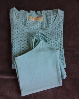Tom Tailor Sweater Twin Set turquoise-mint