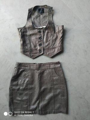 Amisu Miniskirt multicolored cotton