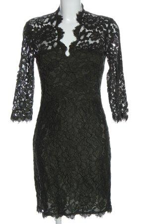 Set Spitzenkleid schwarz Elegant