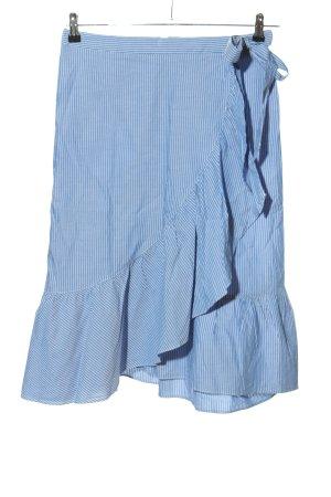 Set Wraparound Skirt blue-white striped pattern casual look
