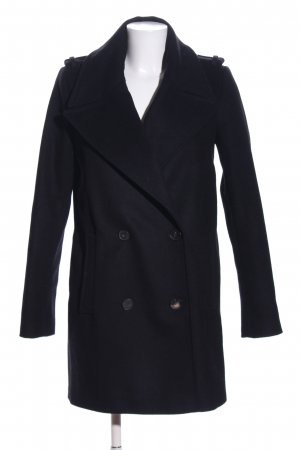Set Wollen jas zwart zakelijke stijl