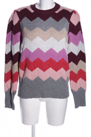 Set Wollpullover grafisches Muster Casual-Look