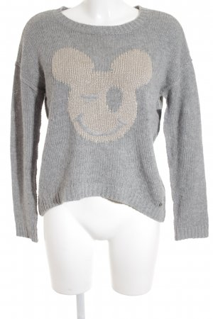 Set Wollpullover grau-roségoldfarben Casual-Look