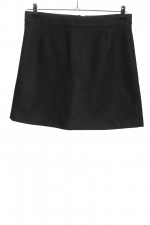Set Wool Skirt black business style