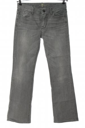 Seven for all Man kind Jeansschlaghose hellgrau Casual-Look