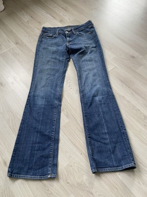 Seven for all Mankind 28 Jeans Bootcut blau Used