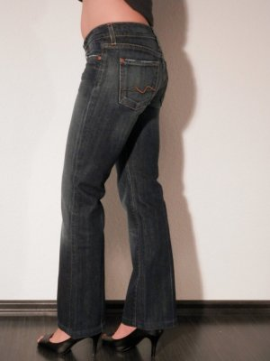 Seven for all Mankind Boot Cut Blogger Designer Flared Jeans TOP