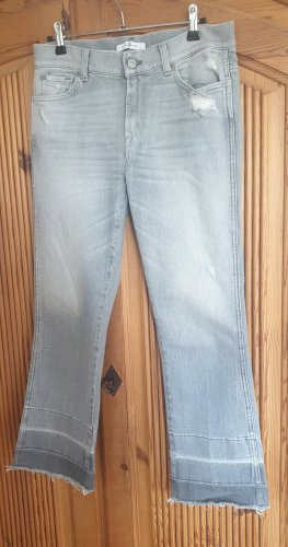 Seven for all mankind cropped jeans gr. 27 inch grau