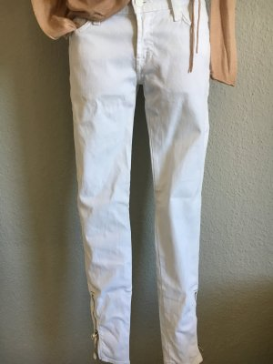 7 For All Mankind Low Rise Jeans white