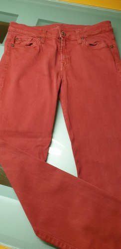 7 For All Mankind Pantalone cinque tasche rosso scuro Cotone