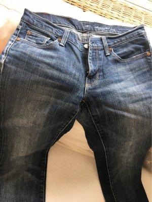 7 For All Mankind Jeans met rechte pijpen staalblauw-azuur