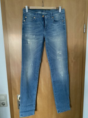 7 For All Mankind Low Rise jeans azuur