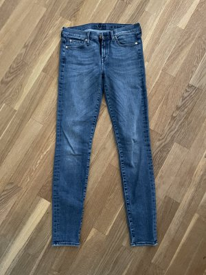 7 For All Mankind Jeans skinny blu acciaio