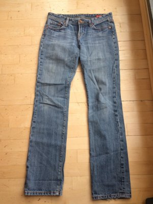 seven Straight Leg Jeans steel blue cotton
