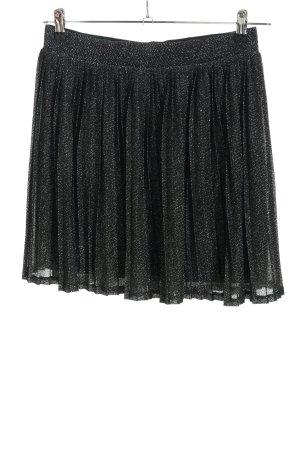Seven Sisters Plisseerock schwarz-silberfarben Elegant