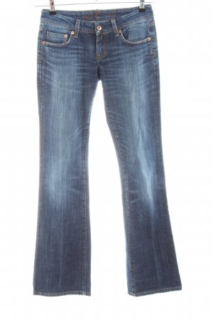 Seven7 Boot Cut Jeans blau Casual-Look