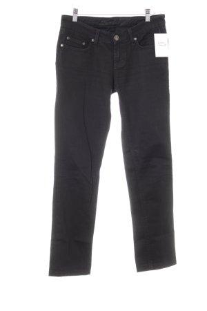 Seven7 High Waist Jeans schwarz Webmuster Casual-Look