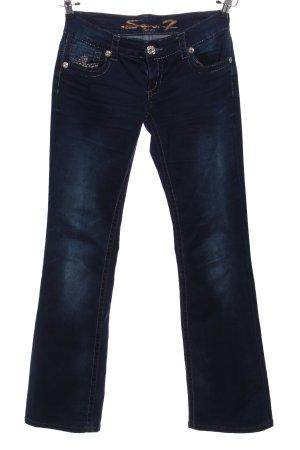 Seven7 Jeansschlaghose blau Casual-Look