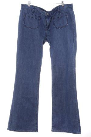Seven7 Jeansschlaghose stahlblau Gypsy-Look