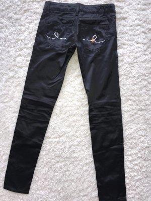 Seven7 - schwarze Hose aus Seidenstoff