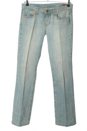 Seven7 Jeansy z prostymi nogawkami niebieski W stylu casual