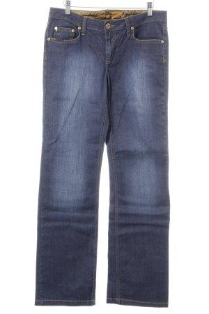 Seven7 Straight-Leg Jeans blau Washed-Optik