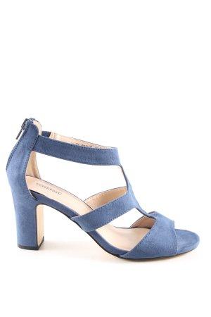 Sandalen met bandjes en hoge hakken blauw elegant