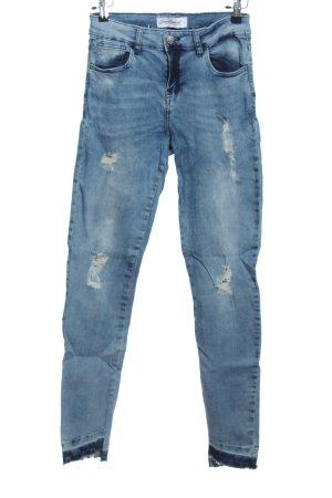 seventyseven High Waist Jeans blau Casual-Look