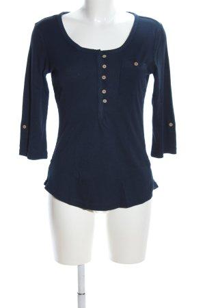 seventyseven Rippshirt blau Casual-Look