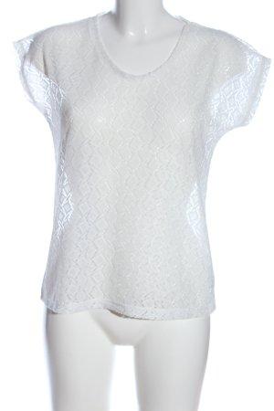 seventyseven Blouse en dentelle blanc style décontracté