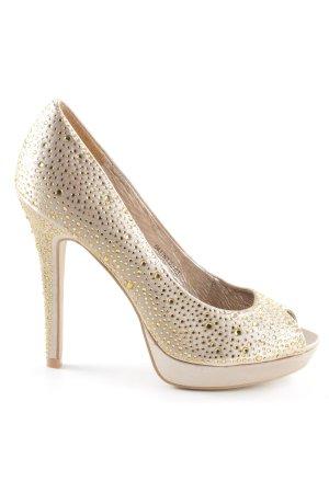 Sex and the City High Heels creme-goldfarben extravaganter Stil