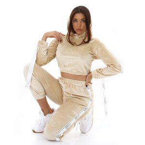 Leisure suit gold-colored-white