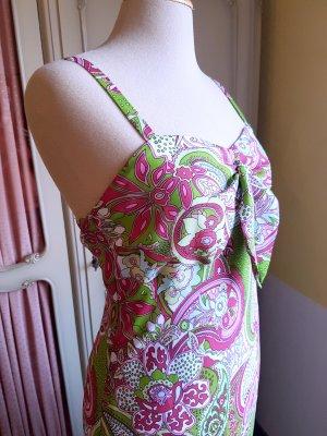 Vintage Vestido Hippie multicolor Sintético