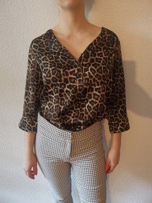 Sexy Bluse im Leopardenstil