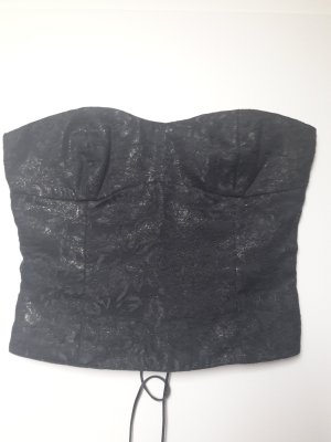 Corsage Top black polyester