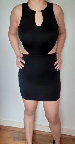 Primark Vestido cut out negro