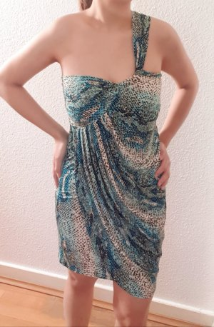 Sexy drapiertes Kleid/Minikleid mit Schlangenmuster